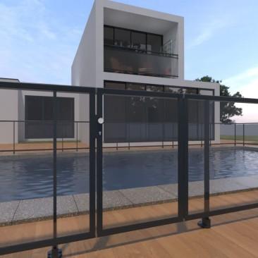 Barreira de piscina em...