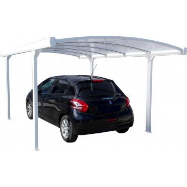 Carport aluminium cintré 5 x 3 m