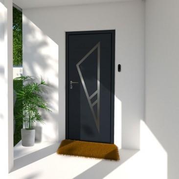 Porta de entrada em Aço Malte
