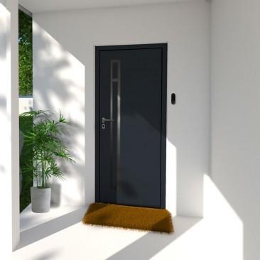 Porta de entrada em Aço Silba