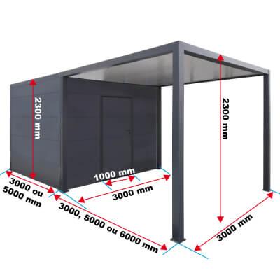 Dimensions du carport et abri de jardin priximbattable